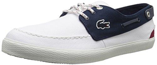 Lacoste Men's Sumac 216 2 Fashion Sneaker, White/Navy, 11 M US