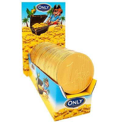 Monete d'oro GIGANTI di cioccolato, 36 Monete. Ognuna pesa 21,5gr - Ø8cm Ideale per le tue Feste! Rendi il tuo party Unico!
