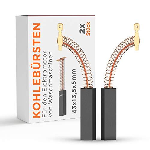 2 escobillas de carbón para motor Bosch 00616505 616505 616505, 4,8 mmAMP para repuesto lavadora Siemens
