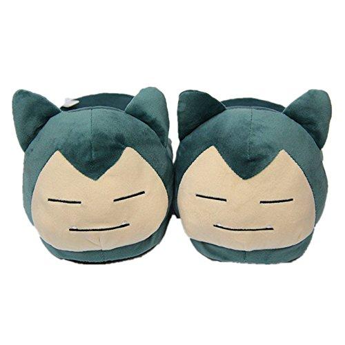 xunlei Pokemon Plüsch Hausschuhe Pokemon Kabi Biest Jenny Turtle Pikachu Kinder Hausschuhe Winter Indoor Baumwollschuhe warme Schuhe