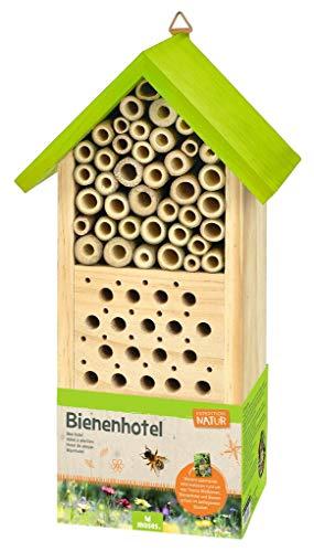 moses. Bienenhotel Expedition Natur | Nist- und Überwinterungshilfe für Wildbienen | Mit spannendem Booklet für Kinder, Mehrfarbig