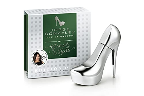 JORGE GONZÁLEZ by GLAMOUR & HEELS – EDICIÓN PLATA, Eau de Parfum 50 ml, parfum pour femmes