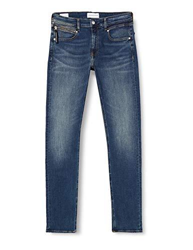 Calvin Klein Ckj 058 Slim Taper Pantaloni, Bb032/Zip Pkt Cucitura Blu Scuro, 32W / 29L Uomo
