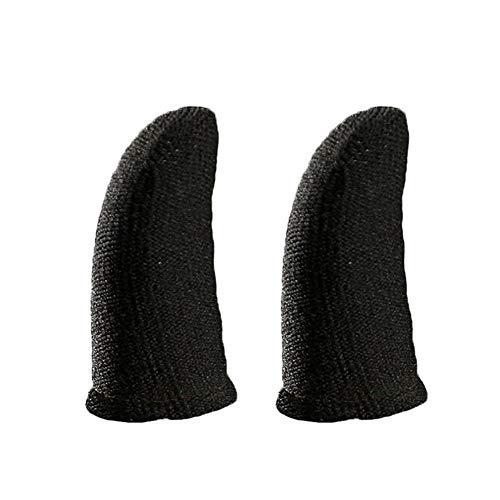Für PUBG Mobile Game Finger Sleeve [5er - Pack], Touch Screen Fingerhülse Atmungsaktiv Anti-Sweat-empfindliche Ziel- Und Zieltasten Für Überlebensregeln/Knives Out - Für Android & IOS - Schwarz