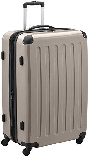 HAUPTSTADTKOFFER - Alex - Hartschalen-Koffer Koffer Trolley Rollkoffer Reisekoffer Erweiterbar, 4 Rollen, TSA, 75 cm, 119 Liter, Champagner