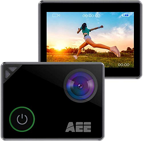 AEE S91B Sliver 4K Sports Action Camera with 131ft Underwater Waterproof Photography Camcorders, 1.8 inch Touch Screen, Anti-Shake, and 16MP Wide Angle for Sport or Travel Video