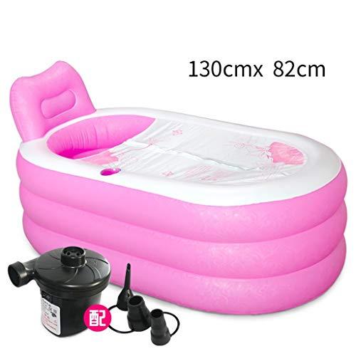 Relaxbx Aufgeblasene Badewanne Dickere Badewanne für Erwachsene Falte Badewanne aus Kunststoff Badetonne Badetonnen Badetonnen (Größe: S2)