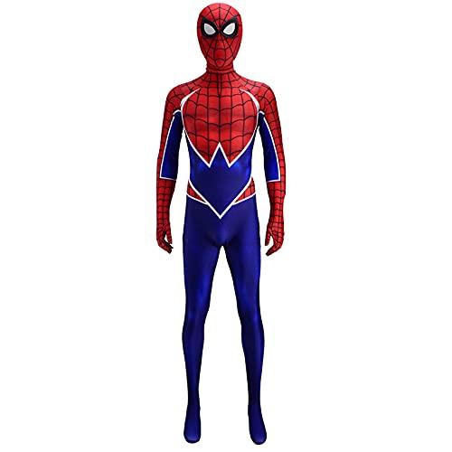Spiderman Cosplay Jumpsuit PS4 Juego Juego Play Juego Juego Junto Juego De Halloween Masquerade Cumpleaños Props Bujes Lycra Spandex Onesis,Bodysuit-Adult L(165~170cm)