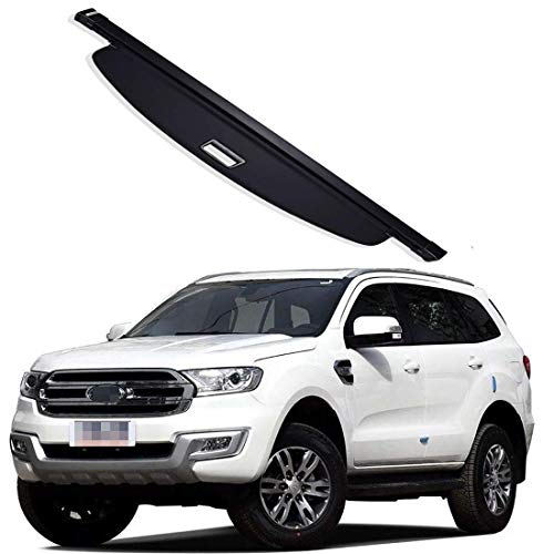 Gemmry Car Retractable Rear Trunk Parcel Shelf, Trunk Cargo Cover Luggage Shade Shield Security Protective Cover for Ford Everest Car Accessories