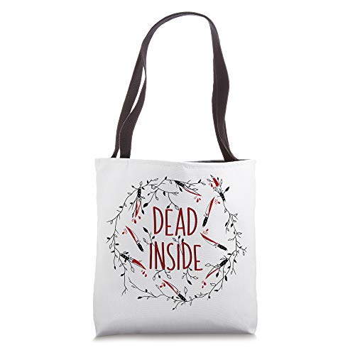 Dead Inside - Twisted Vines and Twigs with Knives Wreath Art Tote Bag