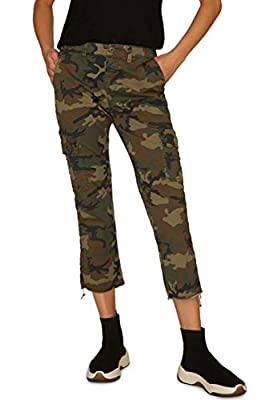 Sanctuary Combat Crop Pants, Size 34 - Green