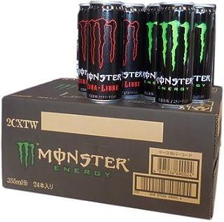 モンスターエナジードリンク キューバリブレ(赤)とエナジー(緑) ハーフ&ハーフ 355ml缶×24本入り 1ケース