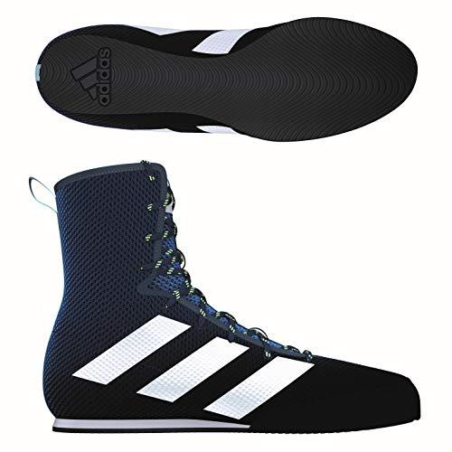 adidas Box Hog 3 Boxing Trainer Shoe Boot Navy Blue - UK 10