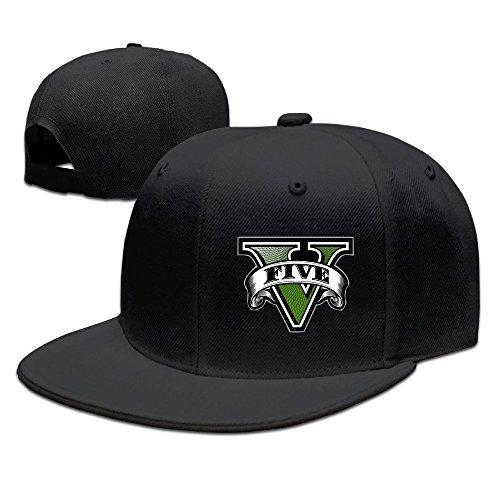 Hittings GTA Five Logo Baseball Cap Hip-Hop Style Black