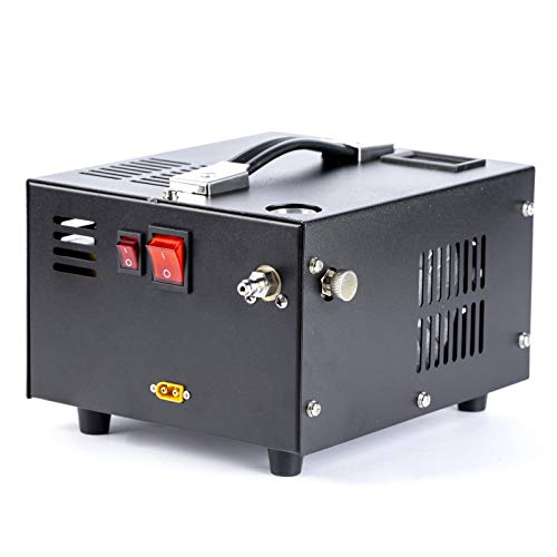 PCP air compressor,portable 4500psi/300bar oil/water free,powered by 12v DC or 110v AC with power supply(included),paintball/scuba/airgun compressor hand pump