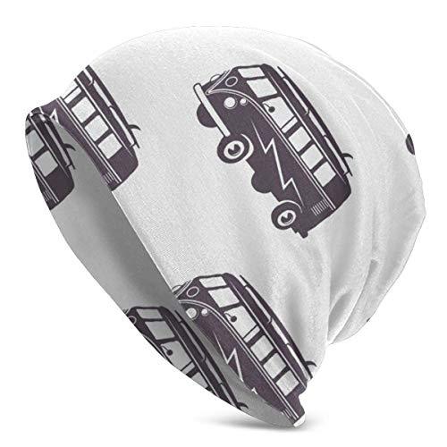Lawenp Automvil Old Bus Retro Car Knit Gorros para Hombres Mujeres Sombrero de Invierno Gorras de Cobertura