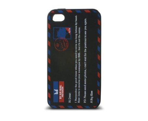Ksix B0917FRS05 - Funda de silicona para Apple iPhone 4 y 4S, negro
