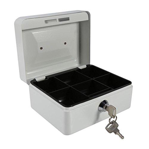 Kassa met cijferslot Veilige metalen spaarpot voor digitale Safe-Electronic Stalen kluis voor thuis, op zakenreis of op reis (wit)