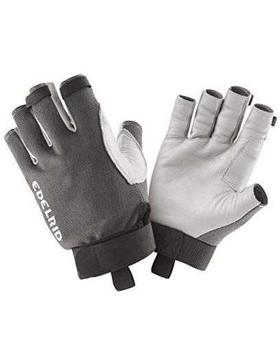EDELRID Unisex– Erwachsene Work Glove Open II, Titan, M