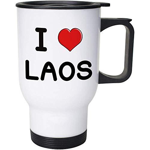 Stamp Press 400ml 'I Love Laos' Wiederverwendbarer Kaffee / Reise-Becher (MG00001139)