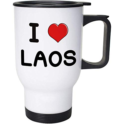 Stamp Press 400ml 'I Love Laos' Wiederverwendbarer Kaffee / Reise-Becher (MG00001139)