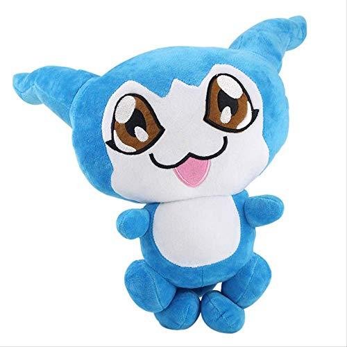 XIAOMOLAO Digimon Adventure Plüschtier 20-29Cm, Blau Chibimon Anime Soft Stuffed Dolls