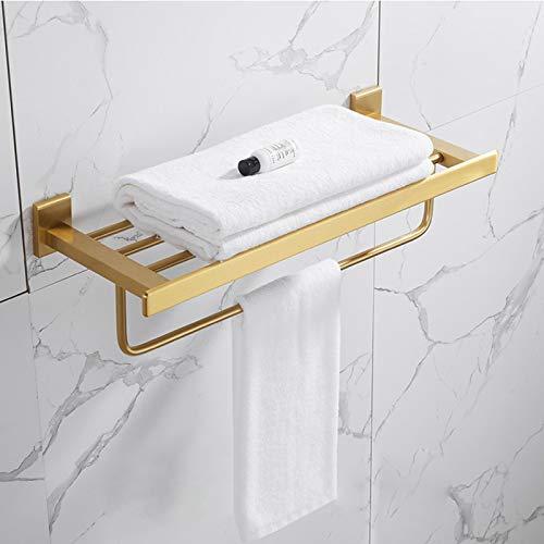 Mdsgfc Conjunto de accesorios de baño de oro cepillado estante de baño, toallero, toallero, soporte de papel, soporte de cepillo de inodoro toallero1