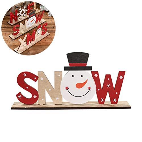 Kenyaw Deko Aufsteller Schriftzug Winter Holz Natur Wunderschöne Dekoration Weihnachten Adventszeit Landhausstil Aufsteller Dekoschild Holzschild Winterdeko(B)