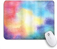 KAPANOUマウスパッド 鮮やかな色のモダンなプリントで抽象的な水彩銀河宇宙星の塵のような画像 ゲーミング オフィ良い 滑り止めゴム底 ゲーミングなど適用 マウス 用ノートブックコンピュータマウスマット