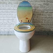 WDHWD Toilet Seat V/U/O-Type Wide Choice of Beautiful Toilet Lid|Stable Hinges|Easy To Install|Toilet Length Does Not Exceed 48Cm B