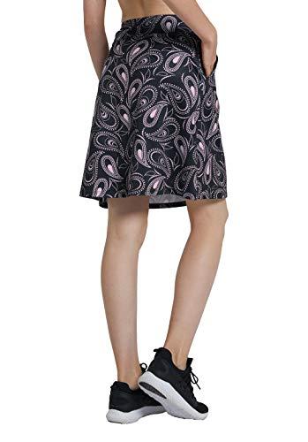 Westkun Mujer Falda Corta hasta la Rodilla de Golf Corriendo Tenis Skort Casual Pantalón Ropa Padel Corta de Modesta Deportivas(Paisley2,XL)