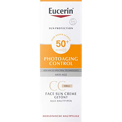Eucerin Photoaging Control Face Sun CC Creme getönt LSF 50+ hell, 50 ml Creme