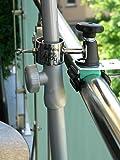 STABIELO Pantalla Solar de Acero Inoxidable, Soporte para múltiples ángulos, 65 mm de suspensión para Parabrisas y Bastones con Carcasa de Acero Inoxidable hasta 33 mm, Patentado por Holly.