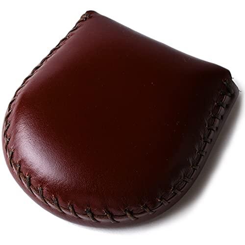 (東京下町工房)本革コインケース 小銭入れ 完全手作り 手縫い仕上げ コンパクト 使いやすさ抜群 (ブラウン)