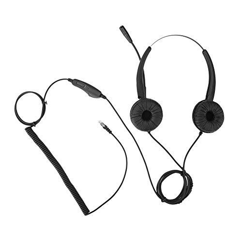 Bewinner RJ9-callcenterheadset met microfoon met ruisonderdrukking Hoorn Volumeregeling Ergonomisch voor professionele telefooncellen, VoIP-netwerktelefoons en andere vaste telefoons