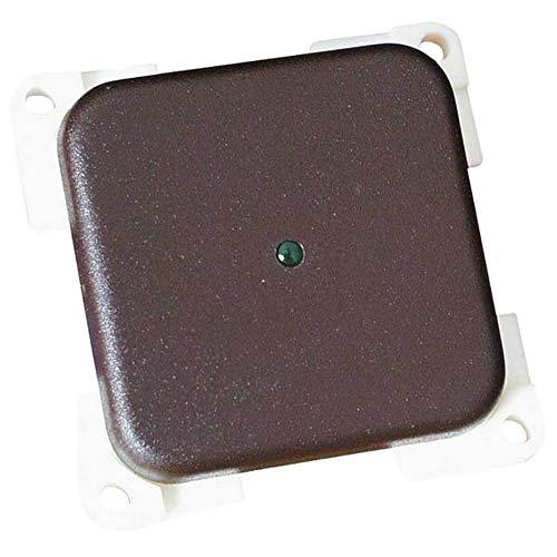 CBE - Interruttore unipolare singolo con LED (Taglia unica) (Grigio chiaro)