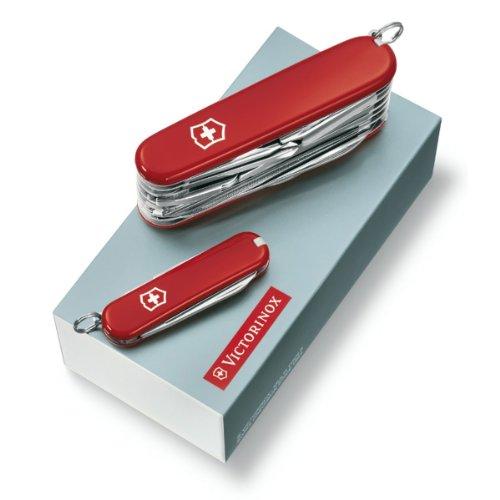Victorinox Taschenmesser-Geschenkset DUO (1 x Swiss Champ Taschenmesser, 1 x Classic SD Taschenmesser)
