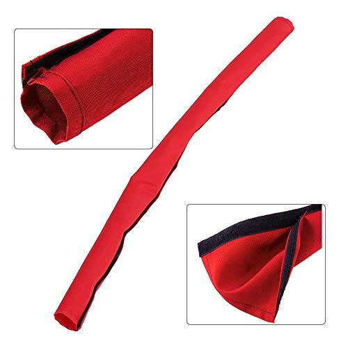 725mmx145mm Coprimaniglie Universale per Passeggini Panno Oxford Passeggino per Manico in tessuto Guaina per manubrio Copertura impermeabile con gancio Loop Carrozzina rimovibile Guanto (rosso)
