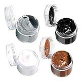 Hellery Paquete de 4 Bálsamo Restaurador de Color de Cuero, Tinte en Crema, Reparación de Silla de Sofá de Cuero Desgastado Y Descolorido