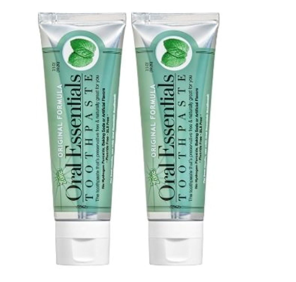 構想するシマウマ大宇宙海外直送品 Oral Essentials オーラルエッセンシャル 歯磨き粉 (オリジナル 106.3グラム 2個) Fresh Breath Toothpaste (Pack of 2) 3.5 Oz Dentist Formulated & Certified Non- Toxic NO Fluoride, SLS, Artificial Flavors (Safe for the Entire Family)