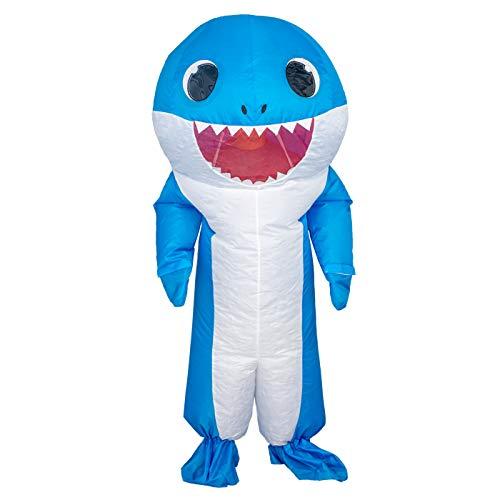Shark Chub Suit Inflatable Adult Halloween Costume (Teen, Blue)