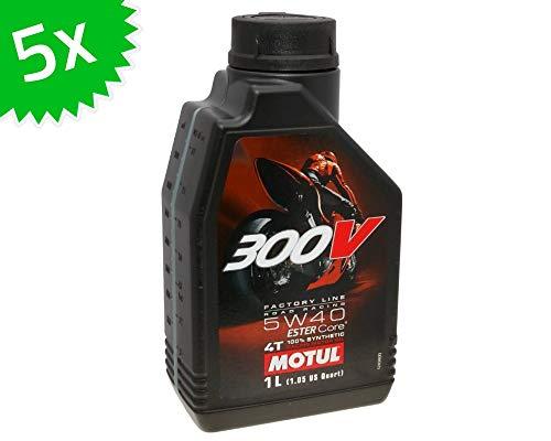 5X 1 Liter Motoröl MOTUL 4T 300V 5W40 FL Road Racing 5 Liter 4 Takt ÖL Oil OEL