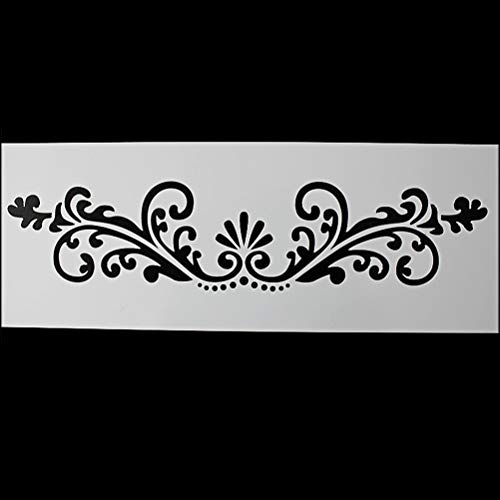 Bake Stencil - Cake Stencil Decorative Flowers Leaves Cupcake Mould Frostings Spray Cookie Stencils Cup Decorating - Storage Beginners Cake Kids Decorating Scraper Letters Flat Profession