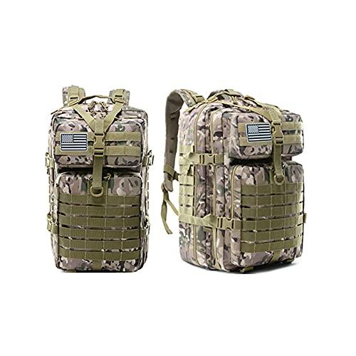 DALIAN Zaino Tattico Militare Grande Esercito 3 Giorno Assalto Pack Molle Bag per La Caccia, Escursioni, Campeggio E Altre attività All'aperto 45L,CP Color