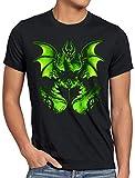 style3 El Hada Oscura Camiseta para Hombre T-Shirt maléfica la Bella Durmiente, Talla:3XL
