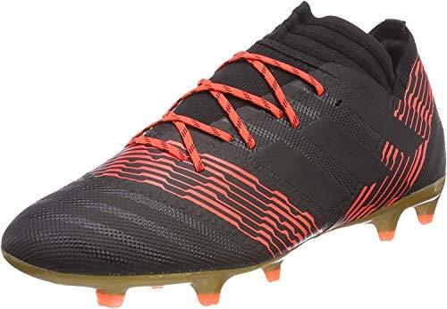 Adidas Nemeziz 17.2 FG, Botas de fútbol Hombre, Negro (Negbas/Negbas/Rojsol 000), 41 1/3 EU