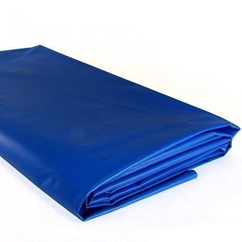 (3,99€/ M ²) 450G Lona para Camiones Plano de Barco PVC Piscina Lona para Jardín Mate o Ojales - Azul, 1m x3,2m