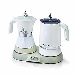 Ariete 1344 Breakfast Station - 3 prodotti in 1: Moka-Bollitore-Montalatte a caldo e freddo, 500W, 4/2 tazze…