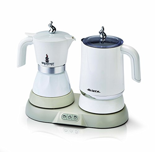 Ariete 1344 Breakfast Station 3-in 1 Espressokocher, Wasserkocher, Milchaufschäumer, plastic, 250 milliliters, Weiß