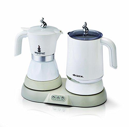 Ariete 1344 Breakfast Station 3-in-1 espressomachine, waterkoker, melkopschuimer, plastic, 250 milliliter, wit